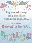 Sunshine Happiness Dance in the Rain Metal Sign Wall Plaque 15X20cm Artwork
